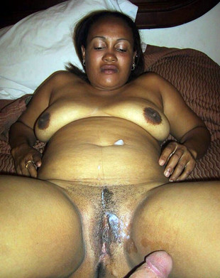 Amateur black wife Lele after fucking..