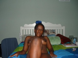 Dirty ebony chick swallows a thick..
