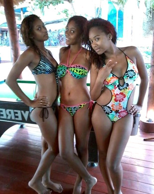 Beddable and young black cuties in..