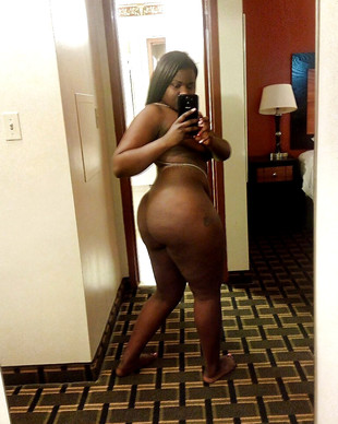 Curvy black women show their nude..